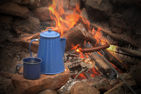 Camping coffee pots colors