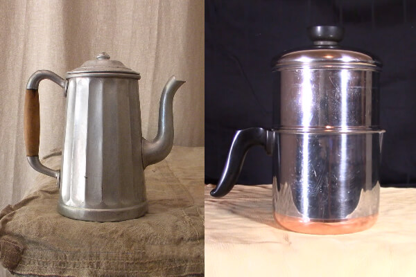 Camping coffee pots styles