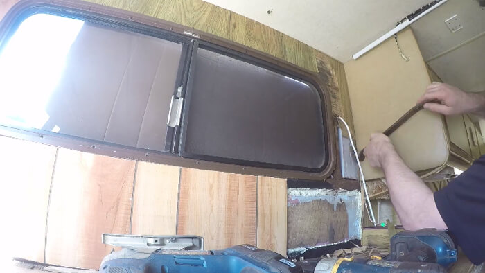 rv cut out the paneling based