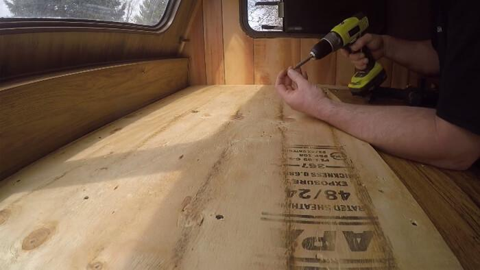 rv wall repair replace plywood