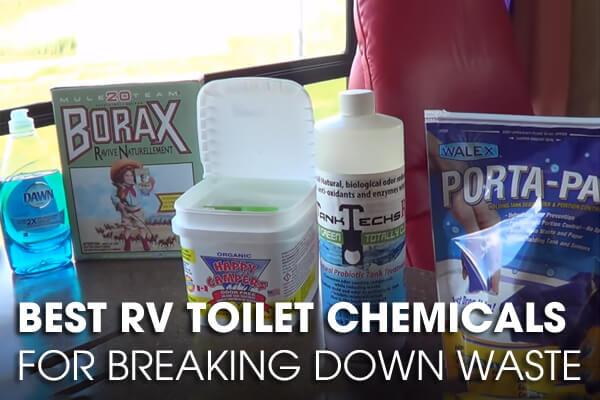 RV toilet chemicals