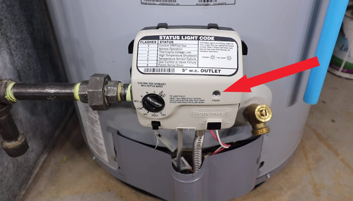 check rv hot water heater