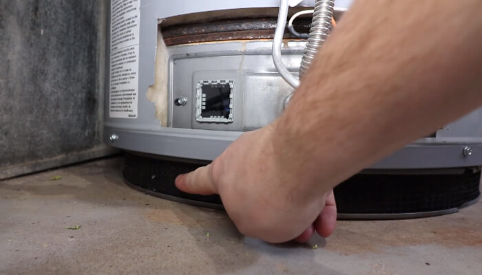 tripped thermal hot water heater in rv
