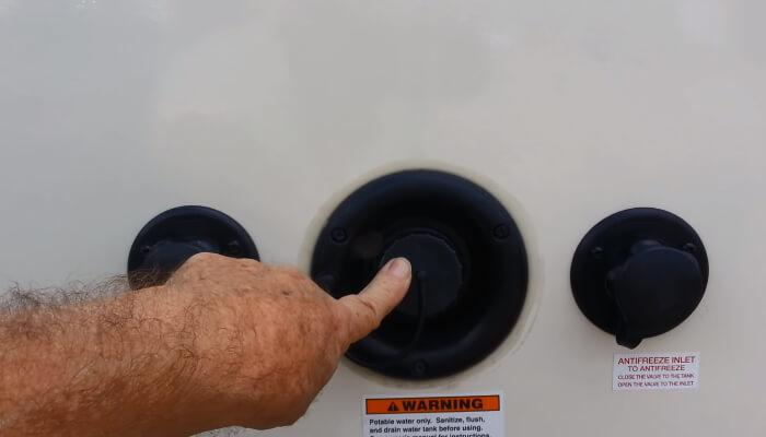 valve hot water tank