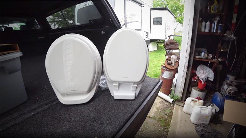 Elongated RV Toilet