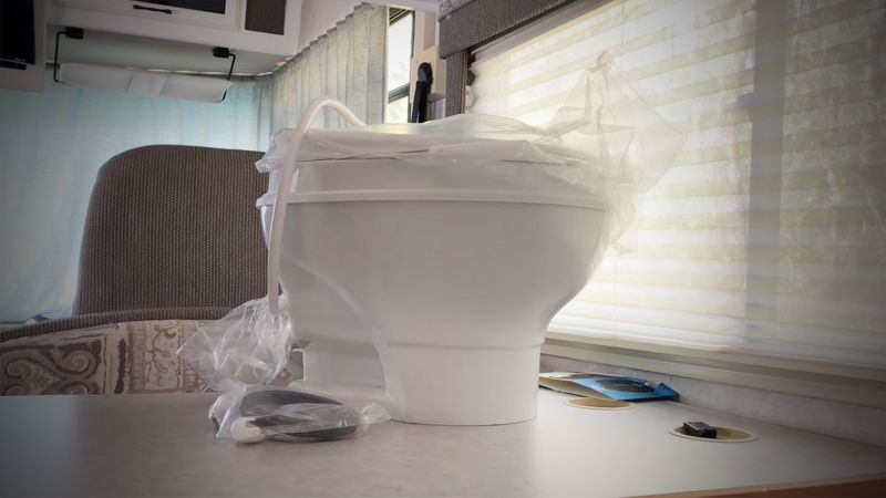 Low Profile RV Toilet
