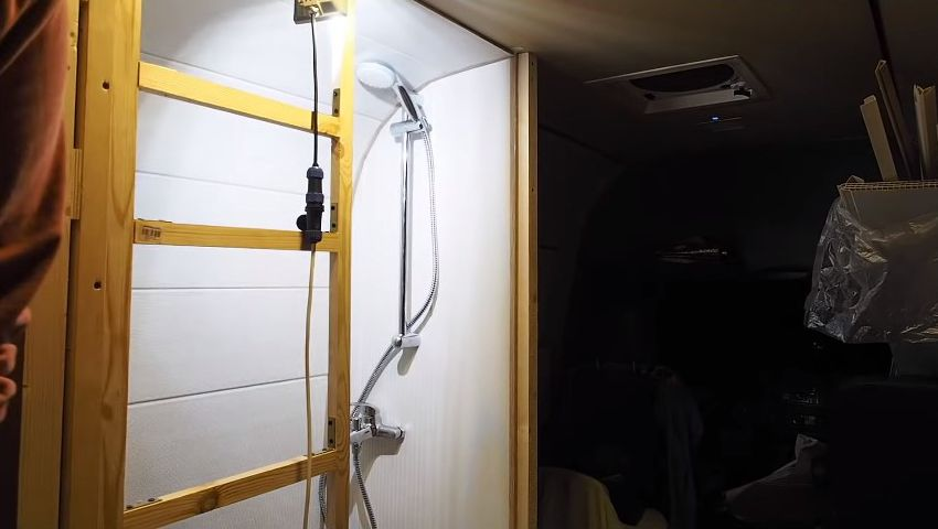 RV shower toilet combo