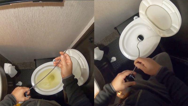 RV toilet clogged