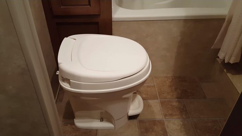 rv toilet installation