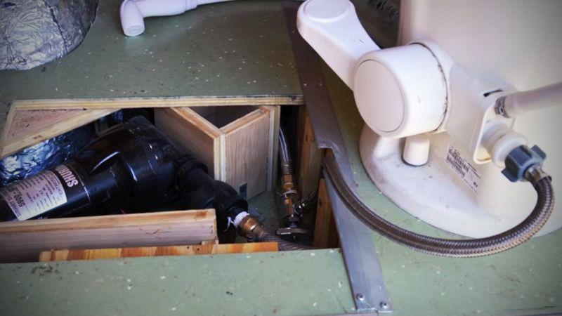 RV Toilet Plumbing