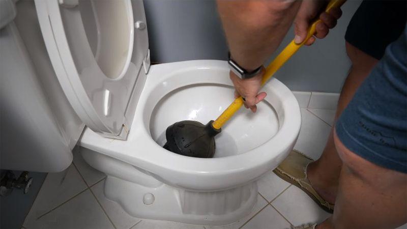 rv toilet plunger