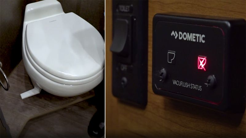 Vacuum Flush RV toilet