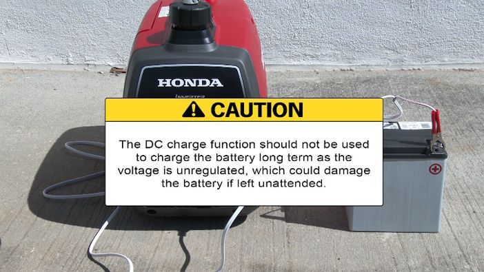 caution DC charge