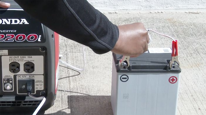 connect rv battery generator