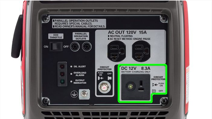 dc outlet charging rv battery