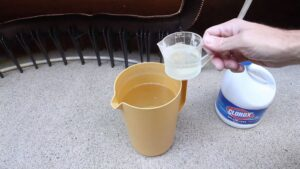household bleach sanitize rv water tank