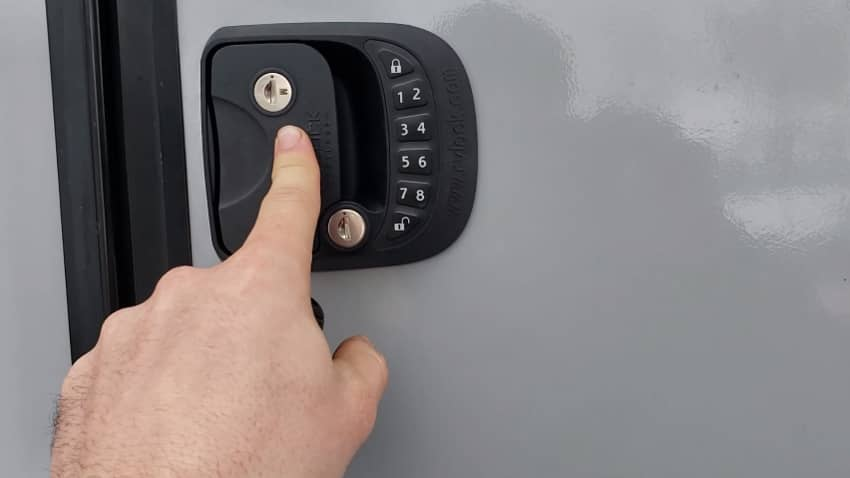 Electric RV Door Lock