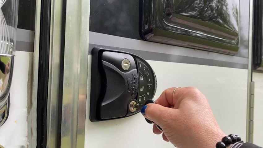 RV Door Locks Keyless Entry