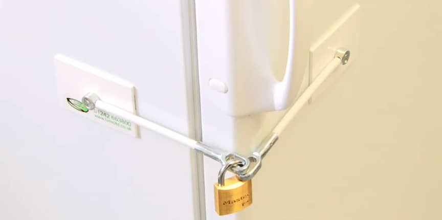 RV Refrigerator Door Lock