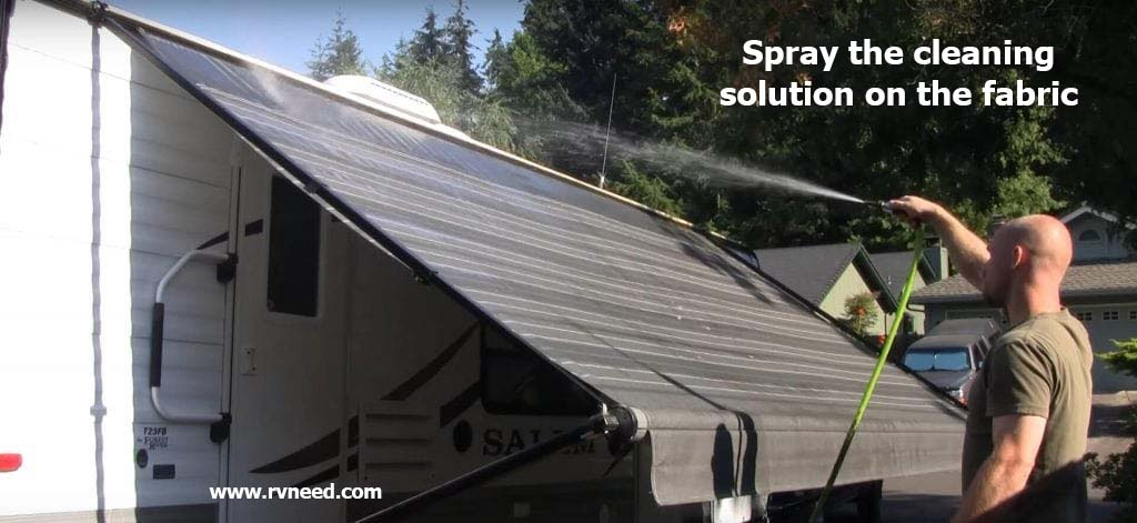 How to clean underside of camper awning
